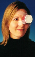 Picture of a cup taped over an eye.