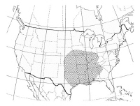 Areas of the United States where the brown recluse spider is most likely to be found.