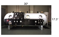 State-of-the-art hyperbaric oxygen chamber by HyperTec.