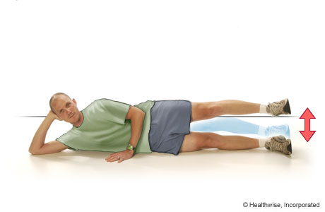 Picture of side-lying leg lift exercise