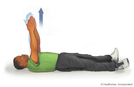 Picture of the arm-reach scapular exercise
