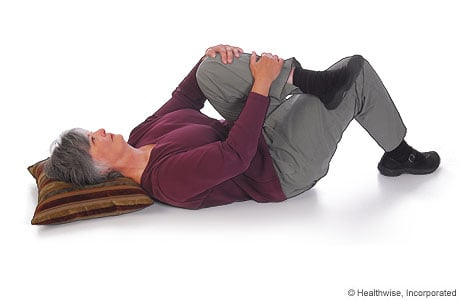 Picture of how to do the piriformis stretch