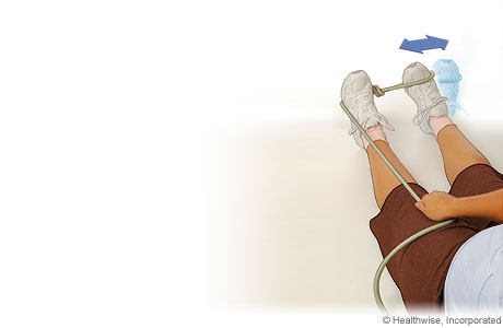 Picture of the ankle eversion strengthening exercise for an ankle sprain