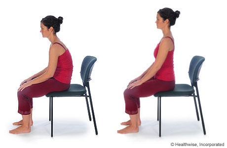 Picture of how to do the sitting pelvic-rock exercise