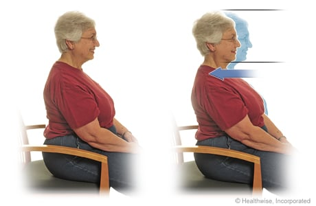 Seated exercise: Chin tuck (or dorsal glide)