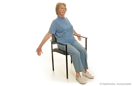 Seated exercise: Chest stretch