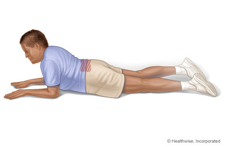 Picture of a press-up back-extension exercise