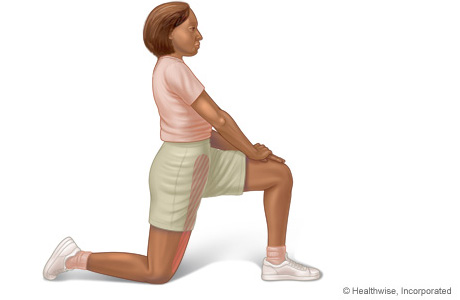 Picture of the hip flexor stretch