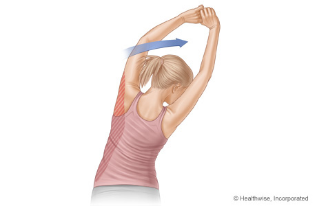 Picture of latissimus stretch