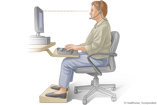 Picture of proper sitting posture for typing