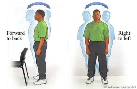 Picture of standing sway exercises to improve balance