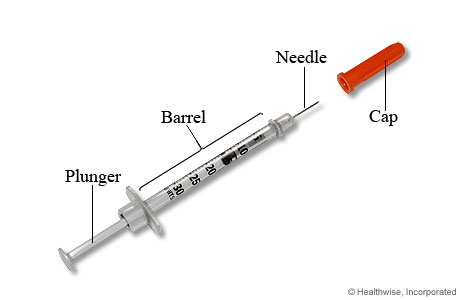 Picture of an insulin syringe