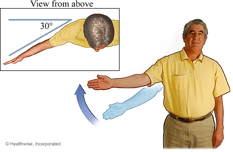 Picture of the arm-raise exercise (to the side)