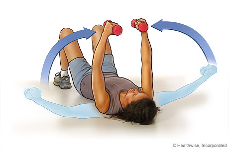 Picture of the chest fly exercise