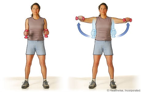 Picture of the lateral raise exercise