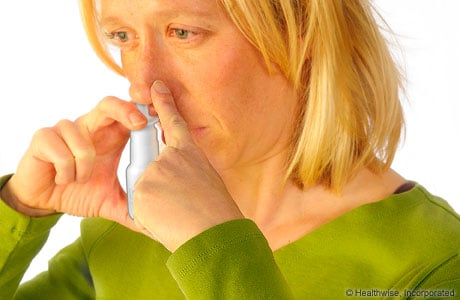 Picture of how to use a nasal sprayer