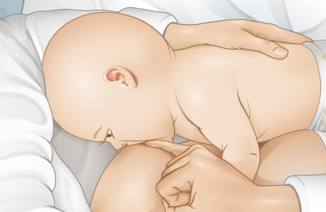 Picture of how to properly break the baby's latch