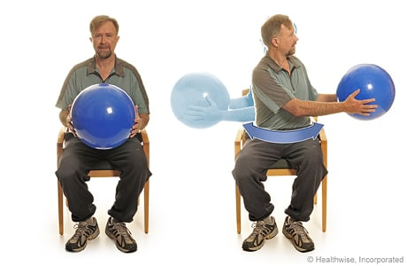 Picture of body twists with a ball