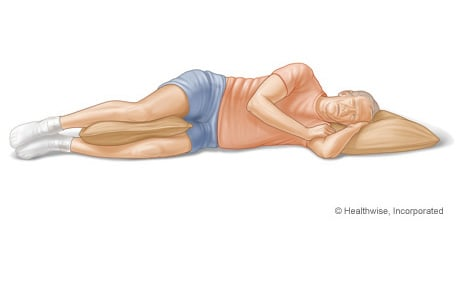 Picture of sleeping position that protects the back (on your side)