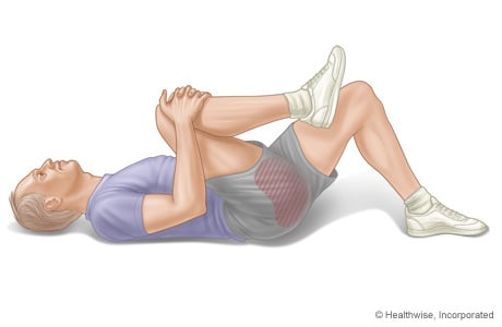 Picture of the knee-to-chest exercise