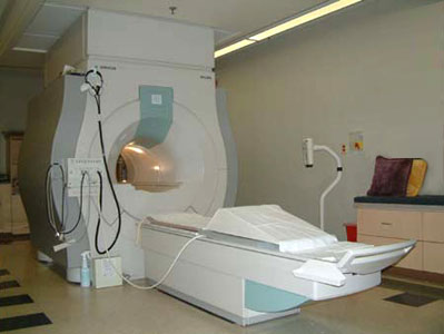 Photo of a standard MRI machine