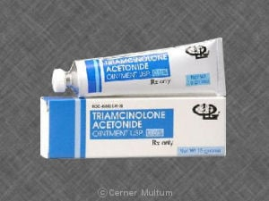 topical side effect of the drug triamcinolone acetonide