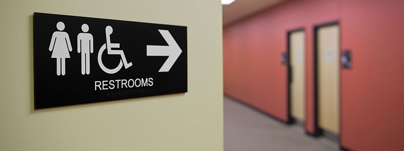 Male and female restroom concept.