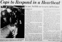 The use of AEDs by police units allowed defibrillation to be performed even before the ambulance arrived.