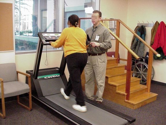 Treadmill exercise stress test.