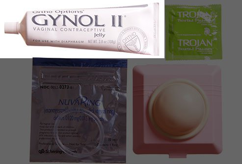 Picture of vaginal jelly and condoms.