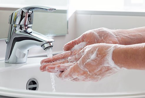 Frequent hand washing is one way to prevent COVID-19 infections.
