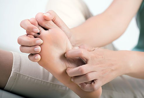 Itchy blisters on the soles of the feet are a sign of dyshidrotic eczema.