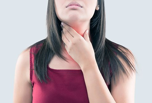 The thyroid gland is located in the neck.