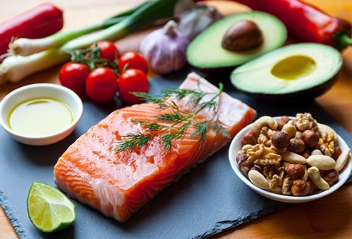 The Mediterranean diet is a way of eating that emphasizes mostly plant-based foods with olive oil as the source of fat, as well as poultry and fish.