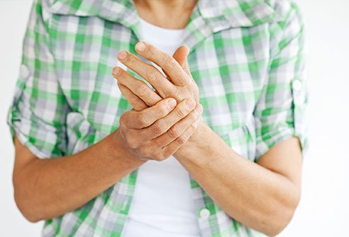 Hand pain is a symptom of osteoarthritis.