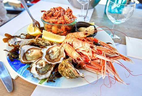 Shellfish poisoning is caused by eating contaminated shellfish, such as oysters, clams, scallops or mussels.
