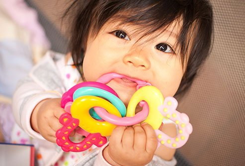 Teething can cause restlessness and fussiness along with other symptoms.