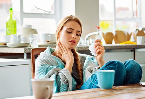Symptoms of COVID-19 vary from person to person, but the big three are usually cough, fever and shortness of breath. Sore throat from a coronavirus infection is a less-common symptom of the disease.