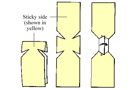 Picture of a butterfly bandage