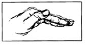 Picture of hand position for postural drainage