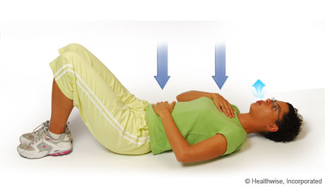 Step 4 of roll breathing