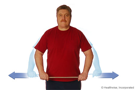 Picture of the hip- level pull exercise