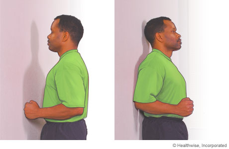 Picture of the shoulder flexor and extensor exercises