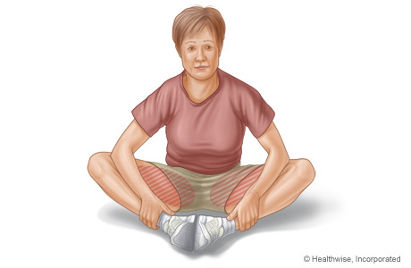 Picture of groin stretch exercise