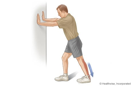 Picture of the calf stretch exercise