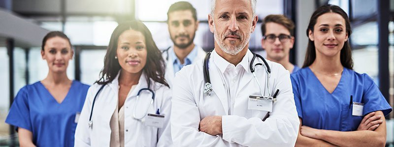 Picture of a team of doctors.