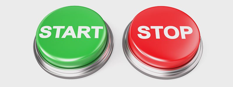 Images of buttons that read stop and go.