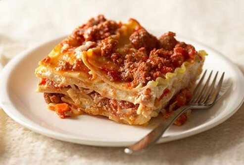 Photo of turkey lasagna.