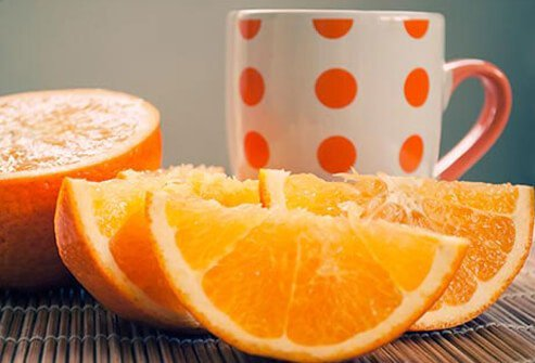 Photo of orange slices.