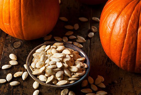 Eat some zinc-rich pumpkin seeds to enhance the function of your immune system.